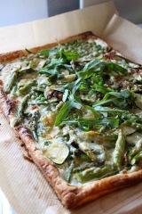 Grün, grün, grün … ist meineSpargelpizza
